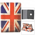UK National Flag Style 360 Degree Rotation PU Leather Case for Retina IPAD MINI - Red + Blue