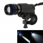 Shuang dan 150lm LED White Light 3-Mode Flashlight w/ Bicycle Mount Holder Clip - Black (3 x AAA)