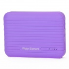 "Water Element A10 ""10400mAh"" Dual USB Portable Power Source Bank w/ Flashlight - Purple"