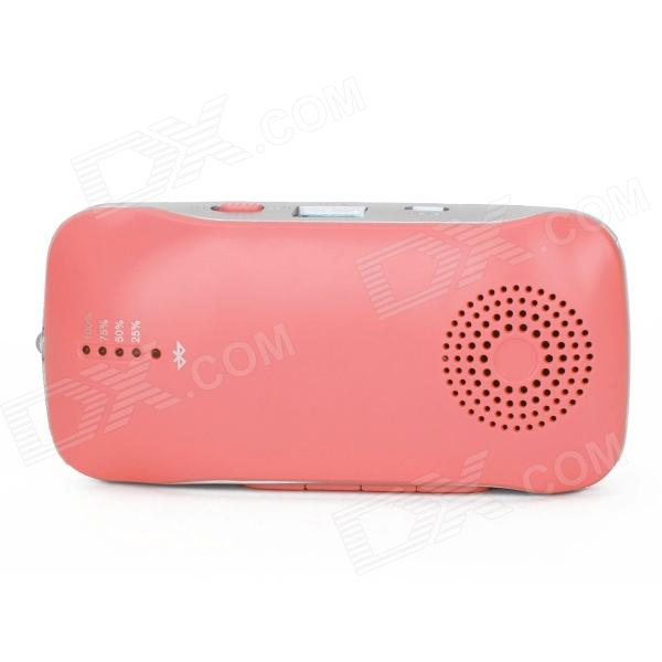 A6 2000mAh Multi-function Power Source Bank w/ Bluetooth Speaker + Handsfree + Flashlight - Red