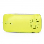 A6 2000mAh Multifunction Power Source w/ Bluetooth Speaker + Handsfree + Flashlight -Yellowish Green