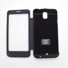 "External ""4200mAh"" Power Battery Charger w/ PU Leather Cover for Samsung Galaxy Note 3 N9000 - Black"
