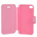 Souris Style protection PU cuir + ABS Case pour IPHONE 4 / 4 s - rose