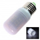 E27 4W 110lm 38-SMD 3528 LED Cool White Light Lamp Bulb (220~240V)