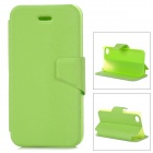 Mouse Grain Style Protective PU Leather + ABS Case for IPHONE 4 / 4S - Green