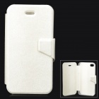 Mouse Grain Style Protective PU Leather + ABS Case for IPHONE 4 / 4S - Beige