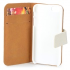 Protective PU Leather + Plastic Flip Open Case w/ Stand / Card Slots for IPHONE 5 / 5S