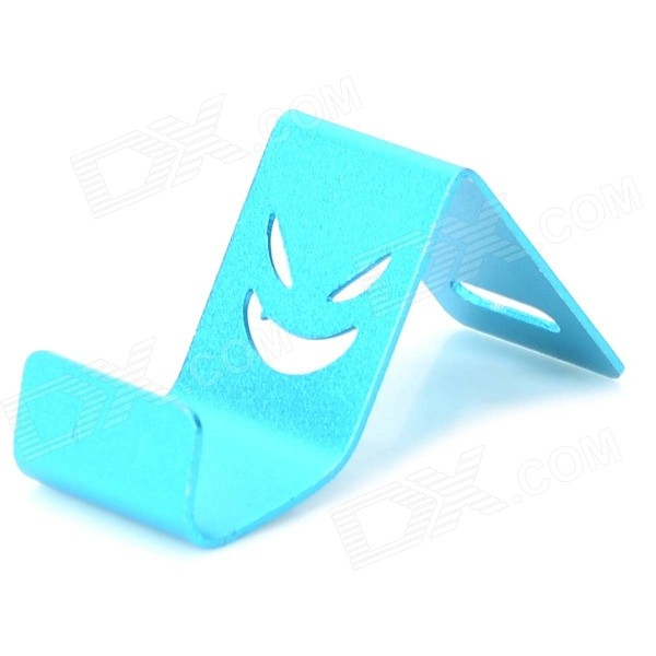 Universal Devil Style Aluminum Alloy Stand Holder for IPHONE / Samsung / HTC / Sony - Blue universal devil style aluminum alloy stand holder for iphone samsung htc sony golden