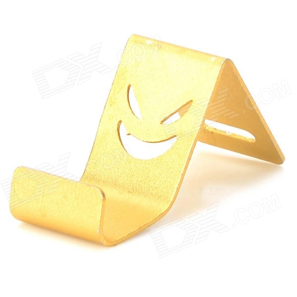 Universal Devil Style Aluminum Alloy Stand Holder for IPHONE / Samsung / HTC / Sony - Golden universal devil style aluminum alloy stand holder for iphone samsung htc sony golden