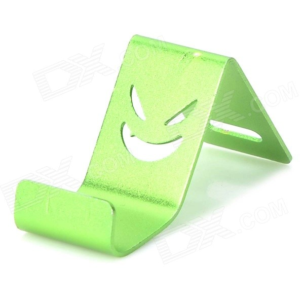 Universal Devil Style Aluminum Alloy Stand Holder for IPHONE / Samsung / HTC / Sony - Green universal devil style aluminum alloy stand holder for iphone samsung htc sony golden