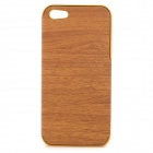 Wood-261 Stylish Protective PU Leather + PC Back Case for IPHONE 5 / 5S -  Champagne Gold