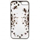 Laser Cupid Pattern Protective ABS Back Case for IPHONE 5 / 5S - Black + Transparent