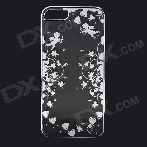 Cupid Pattern Protective ABS Back Case for IPHONE 5 / 5S - Transparent + Silver creative protective abs back case w cigarette lighter for iphone 5 5s grey silver