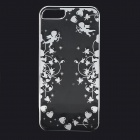 Cupid Pattern Protective ABS Back Case for IPHONE 5 / 5S - Transparent + Silver