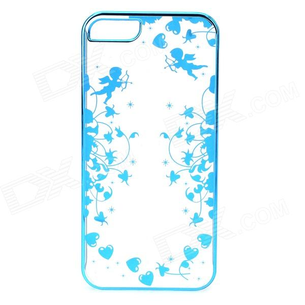 Фото Cupid Pattern Protective ABS Back Case for IPHONE 5 / 5S - Transparent + Blue a100 happy valentine s day pattern protective plastic back case for iphone 5 5s transparent