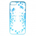 Cupid Pattern Protective ABS Back Case for IPHONE 5 / 5S - Transparent + Blue
