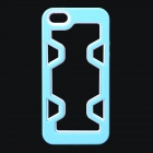 Protective Plastic Bumper Case for IPHONE 5 / 5S - Light Blue + White