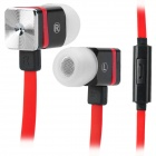 3.5mm MAIBOSI MA-366 Sport In-Ear w / microphone pour iPhone / iPad - Rouge + Noir (125cm)