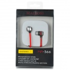 MAIBOSI MA-366 Sports 3.5mm In-ear Earphone w/ Microphone for IPHONE / IPAD - Red + Black (125cm)