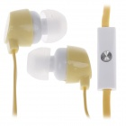 GJBY Gj-1809 Stylish Stereo Bass In-Ear Earphones for Cell Phone / IPHONE - Yellow (3.5mm Plug)