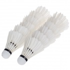 Shuangyanfeifei SYFF-100 Sport Badminton Goose Feather Shuttlecocks - White (12 PCS)