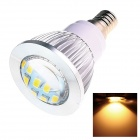 E14 6W 180lm 2500K 16 x SMD 5730 LED Warm White Energy Saving Light Bulb - White (AC 220~240V)