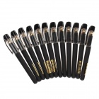 M & G A2502 Negro 1.0mm Gel Ink Pen - Negro (12 PCS)