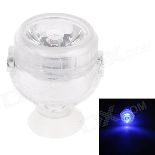 JB-001 1W Acuario 1-LED Light Blue Diving lámpara de luz - blanco traslúcido (AC 100 ~ 240V)