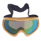 Fashionable UV100 Protection Sunglasses Racing Goggles - Yellow + Black