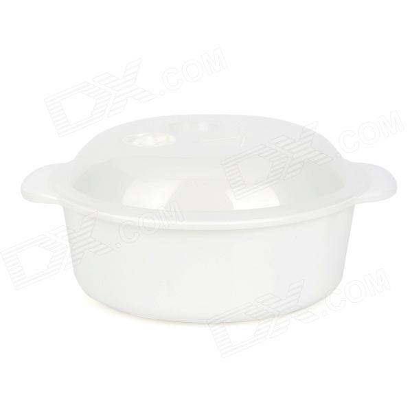Convenient Microwave Oven-friendly PP Bowl - White + Translucent White