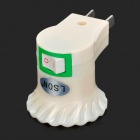 LSON 10W E27 3A Screw Adapter w/ Switch - White (100~240V)