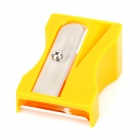 Pencil Sharpener Style Stainless Steel + Plastic Peeler / Cutter - Light Orange + Silver