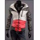 1414/8001 Men's Quick-Drying Coat - Gray + White + Red (Size-XXL)
