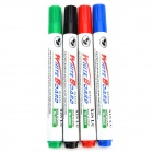 White Board Marker Pens - Black + Red + Blue + Green (4 PCS)