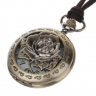 Rose Style Fashionable Classical Women's Quartz Pocket Watch - Bronze + White (1 x LR626)