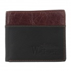 WEIJUESHI 23818-1W Cross Section Men's PU Leather Purse - Black + Reddish Brown