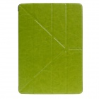 Stylish Ultra Thin Protective PU Leather Case Cover Stand w/ Auto Sleep for IPAD AIR - Green