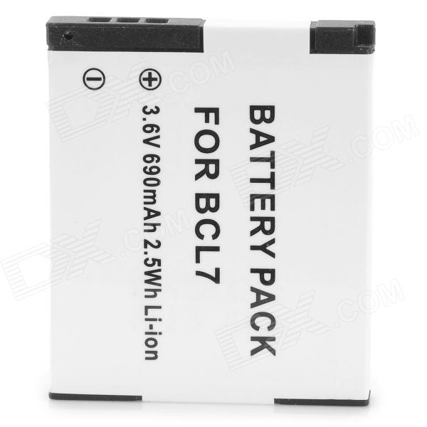 BCL7 690mAh 3.6V Camera Li-ion Battery for Panasonic DMC-F5 FH10 SZ3 - White