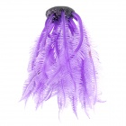 131S Realistic Decorative Silicone + Resin Water Plant for Fish Tank - Purple + Black