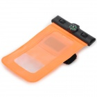 "IPX8 Protective Waterproof Bag w/ Compass for 5.5"" Cell Phone - Orange"
