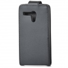 Protective Flip-Open PU Leather + Plastic Case for MOTO G - Black