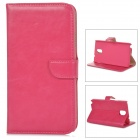 DYTI-073 Protective PU Leather + PC Case for Samsung Galaxy Note 3 - Deep Pink