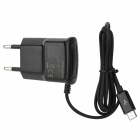 100~240V EU Plug Power Adapter for Samsung S3 i9300 / S4 i9500 - Black