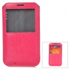 Protective PU Leather Pouch w/ Display Window for Samsung Galaxy Note 3 - Deep Pink