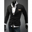 Men's Slim Knit Collar Small Suit - Black (Size-XXL)