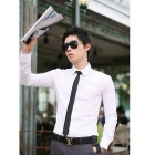 Men's Slim Business Casual Shirt - White (Size-XXL)