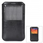 Protective PU Leather Pouch w/ Display Window for Samsung Galaxy Note 3 - Black