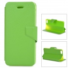 Lychee Grain Style Protective PU Leather + Plastic Case for IPHONE 5 / 5S - Green