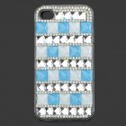 Plastic Protective Plastic Case for IPHONE 4 / 4S - Light Blue + Silver