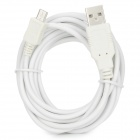 USB 2.0 to Micro 5-pin Data & Charging Cable for Samsung / Nokia / Xiaomi - White (300cm)